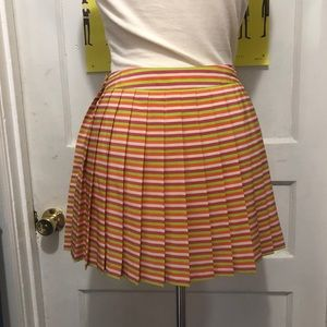 Lacoste Pleated Striped Tennis Skirt